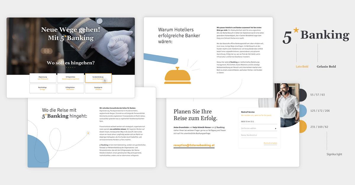 Landingpage Screendesign