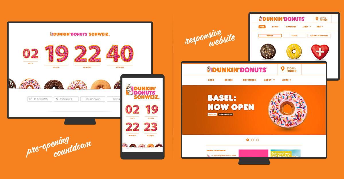Dunkin' Donuts Schweiz - Web