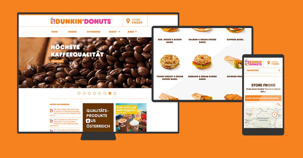 Dunkin' Donuts Österreich Website & Art Direction