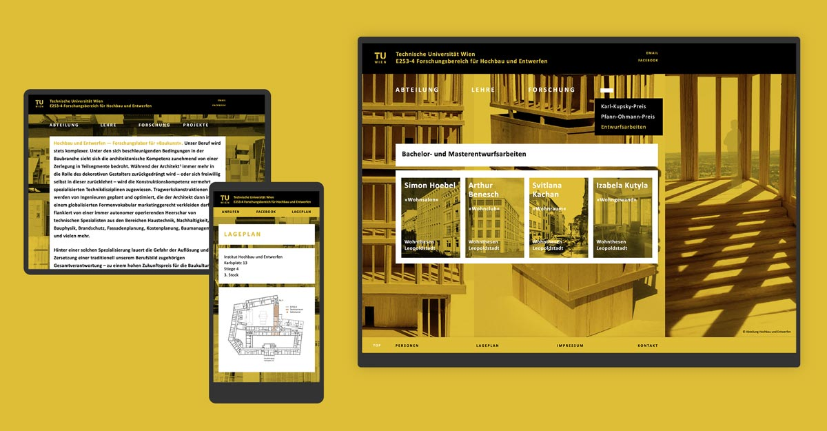 Hochbau und Entwerfen - TU Wien