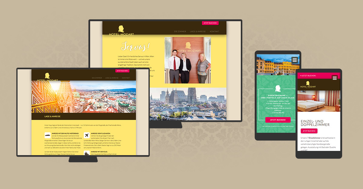 Website Programmierung Hotel Mozart