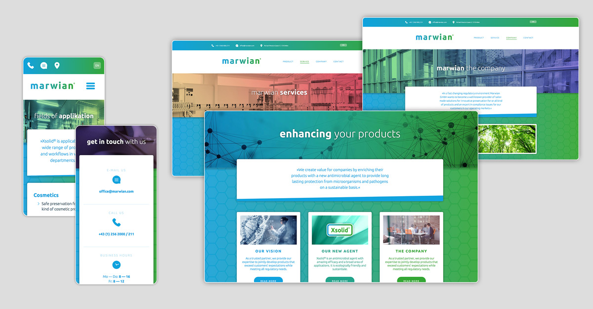 Responsive Webdesign und Programmierung Marwian GmbH