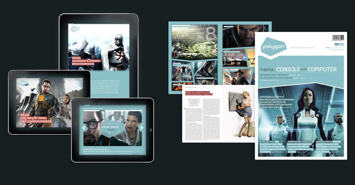 Designstudie Polygon Magazin