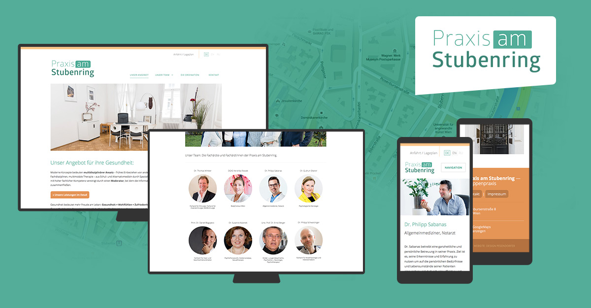 Webdesign & Wordpress Programmierung Praxis am Stubenring