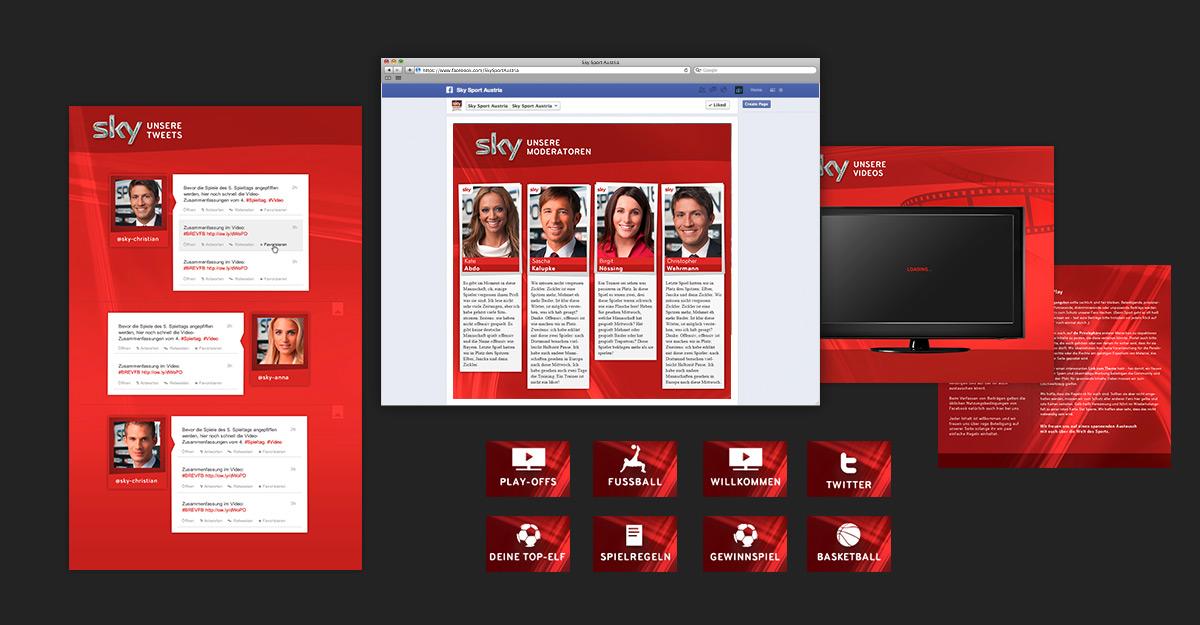 Sky Sport Austria Facebook-Tabs & Grafik
